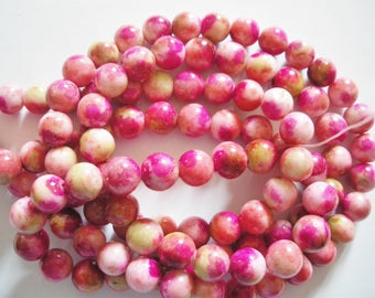 53 multicolor 8 mm jade beads