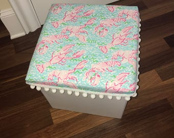 Lilly Pulitzer Lobstah Roll Ottoman