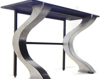 console table modern industrial custom accent table hallway table foyer