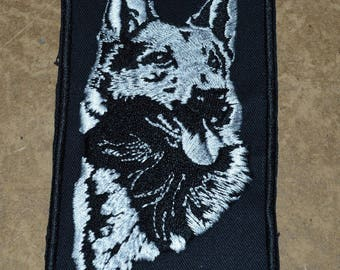 embroidered dog embroidered patch