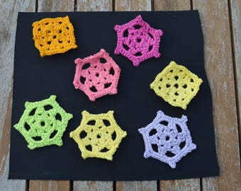 Flower crochet set 7 pieces
