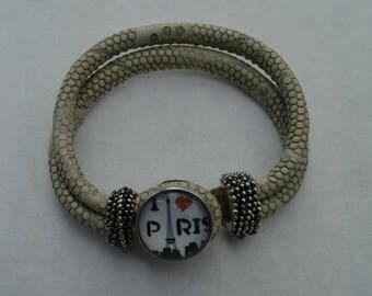 Black paris chunk bracelet