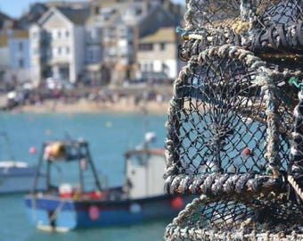 """St Ives harbour 6"""" by 4"""" Mounted Photo"""