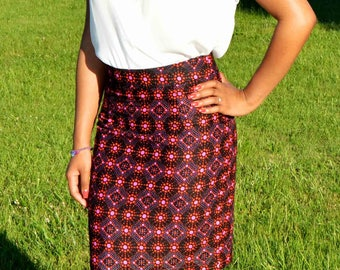 Nice straight skirt in African print fabric
