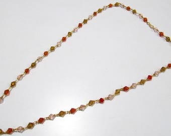 Multi Color Hydro Quartz Fancy Beaded Chain  , 26 inches Long Gold Plated Jewelry , Traditional Indian Rosary Necklace- 6mm Beads chain.