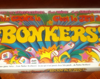 Vintage (c.1978) Bonkers | This Game is Bonkers board game by Parker Brothers.  Canadian bilingual (English | French) edition. Complete.