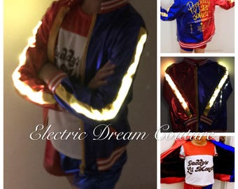 LED Harley Quinn kids Outfit, Harley Quinn Costume,Harly Quinn of Suicide Squad, Light up Harley Quinn girls Custome,Harley Quinn Cosplay,