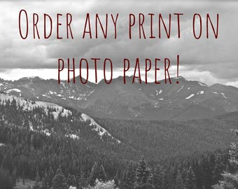 Order Any Print on Photo Paper