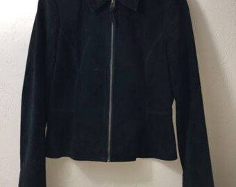 Liz Claiborne Black Suede Women's Jacket (Size Small)
