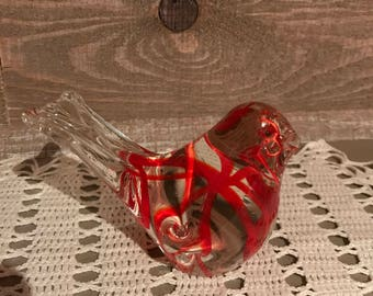 Murano Style Glass Bird Art Deco