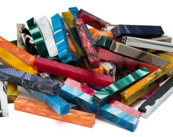 """Pen Makers Choice Acrylic Pen Blanks - 5/8"""" x 5-1/4"""" - 10 Pack"""