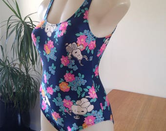 Women's SNOOPY Floral Navy 1P Swimsuit S