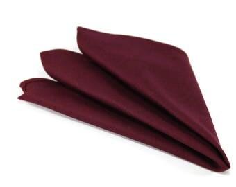 Wine/Maroon pocket squares for boys and men. Ring bearer pocket squares. Groom pocket square. groomsmen pocket squares.
