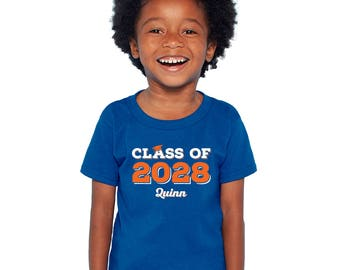 Personalized Class of T-Shirt - Features Name and Year of graduation