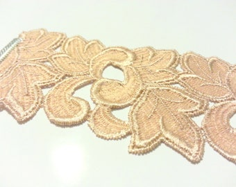 Old pink lace Cuff Bracelet