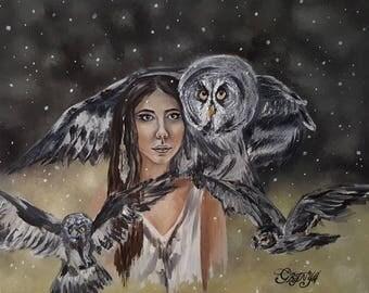 "Original oil painting ""Flyaway"" , oil on canvas, fully handmade"
