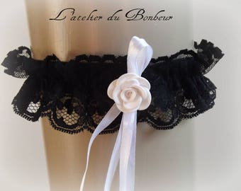 garter: red and Black Lace beautiful garter made of polymer clay
