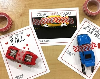 Toy Car Valentine - Kid Valentine- INSTANT DIGITAL DOWNLOAD