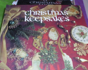 CHRISTMAS BOOKS Lot #2 / Leisure Arts / 6 Holiday Cross Stitch Books / Holiday Books / Ornaments / Holiday Trim  / Craft Books / Gift Books