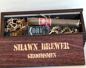 Personalized Cigar Box - Cigar Gift Box - Groomsmen Gift Box - Cigar Box - Groomsman Gift Box - Jack Daniels - Best Man Gift - Suncoastlaser