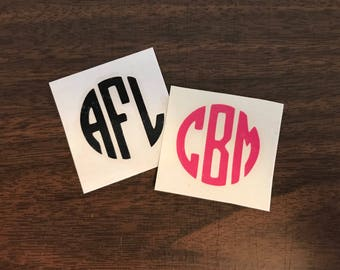 Monogram Decal (for anything you want to personalize!) | vinyl name sticker | personalized gift | Yeti | RTIC