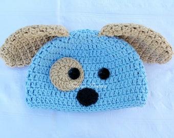 Puppy hat/crochet puppy hat/baby puppy hat/newborn puppy hat/Baby Gift/newborn photo prop/dog hat/infant dog hat/crochet dog hat/newborn hat