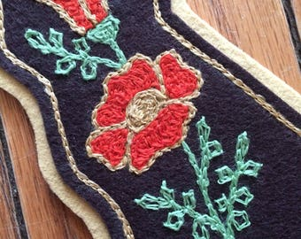 Chainstitch embroidered California poppy patch!