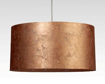 Lampshade, D.50 cm, copper-leaf-character