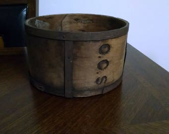 Antique Wood and Iron Planter