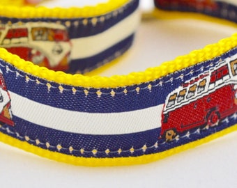 VW Bus Stripe Design Dog Collar