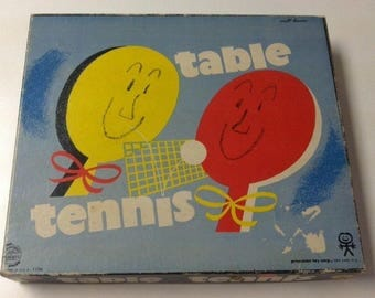 Vintage Estate 1960's Table Tennis Complete In Original Box Pressman #1170