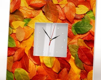 Autumn clock, Thanksgiving decor, Fall leaf printable, Falling leaves, Autumn leaves, Thanksgiving ideas, Decoration art fall, Lake house