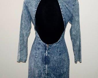 1990s Vintage back cut out dress