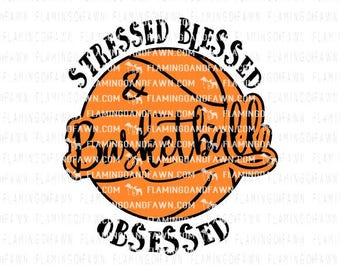 Baseketball svg, stressed blessed svg, bball svg, sports svg, sports women svg, svg basketball, basketball dxf, basketball cut files