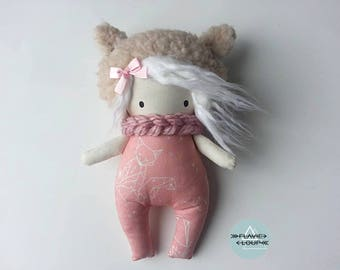 Small rag doll, art doll, Teddy, the model name: Aria