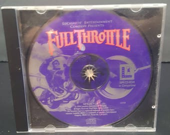 Full Throttle Jewel Case (PC, 1996) by Lucas Arts
