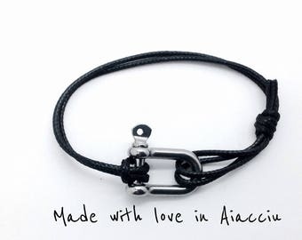 Bracelet men boat Manila and strong waxed cord