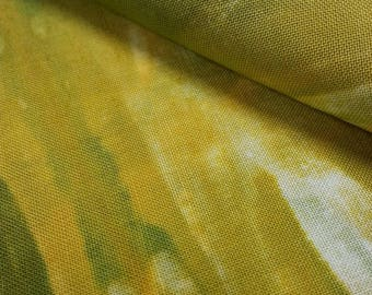 Hand-dyed linen, shibori, patchwork, quilt, sewing, batik, to the delight of...
