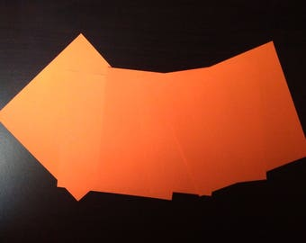 orange set of 5 origami paper 15 x 15 cm