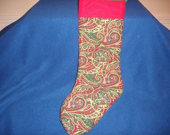 Patchwork & Paisley Christmas Stocking