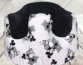 Steamboat Willie Black Bumbo Seat Cover
