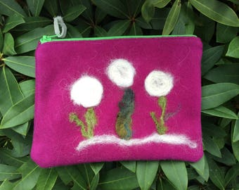 Small, wool-felted bag.