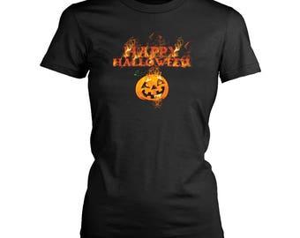 Halloween womens fit T-Shirt. Funny Halloween shirt.