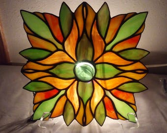 Stained Glass Sun Catcher Window Oval , round , square,Victorian