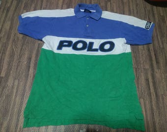 Vintage Polo Sport Ralph Lauren Polo Shirt Men Size L