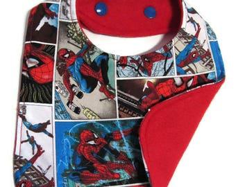 Spiderman Comic Baby Bib