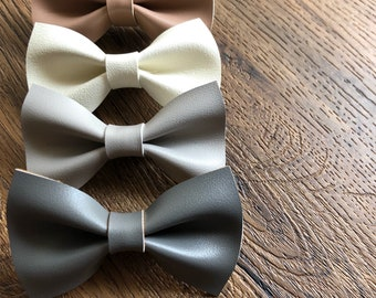 Bows Faux Leather Bow Ties