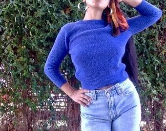 Vintage Blue Knit Sweater