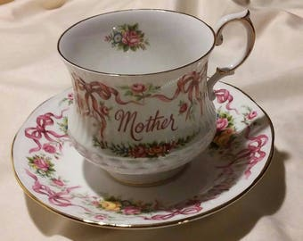 Beautiful teacup and saucer for mother