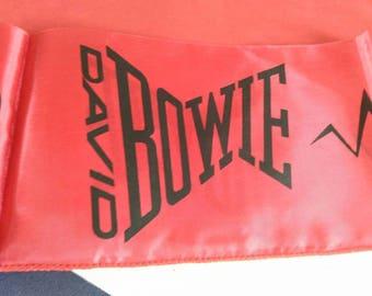 David Bowie , let's dance 1983 . Vintage concert scarf . banner